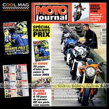 MOTO JOURNAL N°1658 YAMAHA FZ6 600 FAZER GUZZI BREVA 1100 KAWASAKI KLE 500 2005