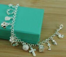 ★★ Bettelarmband 925 Sterling Silber versilbert Liebe Love Zirkonia Armband ★★