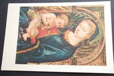 OLD POSTCARD OF THE MADONNA AND CHILD, PESELLINO, ISABELLA STEWART GARDNER