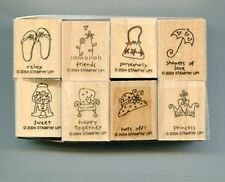 Stampin Up 2004 SET of 8 Small Stamps Assorted themes +Free Ship