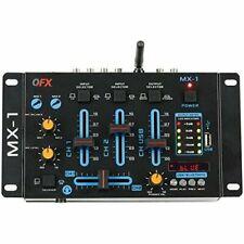 Qfx MX1 3 Channel Mixer   DJ Mixers