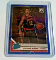 De'Andre Hunter Blue Velocity Optic Prizm Rated Rookie Atlanta Hawks RC 2019-20