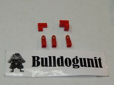 2009 Minotaurus Lego Board Game All 3 Red Microfigures & Base Color Areas Only