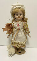 Vintage Porcelain Doll Mary Had a Little Lamb Music Box