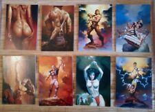 8 cartes postales erotiques Boris Vallejo 1987