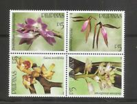 Philippines SC # 2814a-d Orchids. MNH