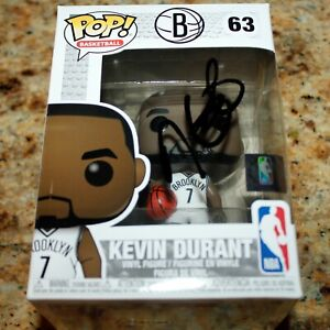 KEVIN DURANT BROOKLYN NETS SIGNED AUTOGRAPHED AUTHENTICATED NBA FUNKO POP COA