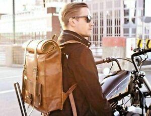 Neu Echt Leder umhängetasche vintage leather Backpack Rucksack beutel tasche