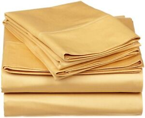 1000TC EgyptianCotton Extra Deep Pocket 6Pc Sheet Set Olympic Queen Solid Color.