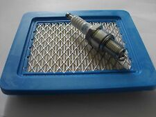 Tune Up Kit Air Filter & Spark Plug fits FLYMO Hover Mower  Honda OHC GCV Engine