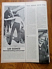 1963 Lee Riders Jeans Ad The Brand Working Cowboys Wear