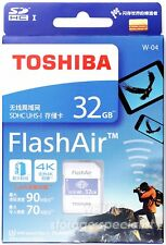 Toshiba 32 GB 32G Flash Air FlashAir Wireless LAN WLAN SDHC Class10 wifi eyefi