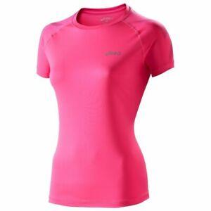 Asics Women's Running Top Tiger Fitness Short Sleeve Top - Pink - New