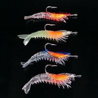 Treble Hook Crank Fishing Lure with Luminous Lead Bag Shrimp shaped Fishing 2020