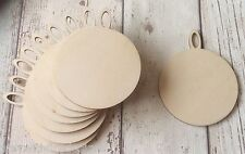 set of 10 laser cut wooden christmas baubles unpainted - christmas craft