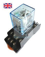 BOBINA 24 Vcc POWER RELAY 14 pin 4pdt 5A 240 V CA con Socket-SPEDIZIONE GRATUITA