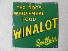 "ENAMEL ADVERTISING SIGN ~ SPILLERS WINALOT ~ 12"" X 12"""