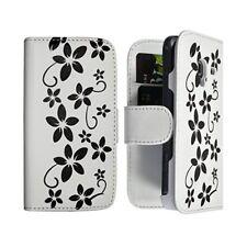 Housse Coque Etui Portefeuille pour Samsung Galaxy Ace 2 i8160 Motif Fleur