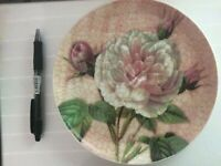 Northamptonshire England Antique Rose Fine Bone China Plate