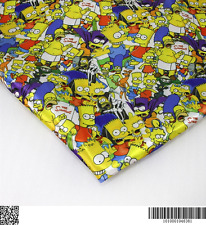 Simpsons heat transfer Satin fabric textile for Sewing - 50x140CM