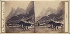 SUISSE Photo A. Braun Stereo Vintage albumine ca 1860