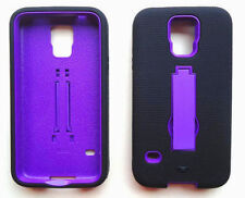 BLACK/PURPLE ARMOR Case Cover For Samsung Galaxy S5 / G9009D G900A G900T G900W8