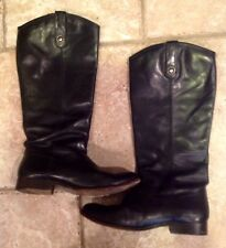 Frye Boots Melissa Button  Woman's Size 9 Black Soft Vintage Leather