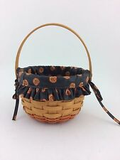 Longaberger 1996 Small Pumpkin Basket Combo