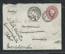BECHUANALAND (PP0312B) 1899 CAPE PSE QV USED FROM TAUNGS, BECHUANALAND TO IRELAN