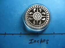 HEX SIGN DUTCH NETHERLANDS HOMES GOOD LUCK PROTECT FROM EVIL SILVER COIN SHARP#B