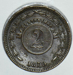 Paraguay 1870 2 Centavo 290859 combine shipping
