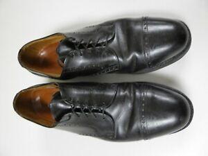 Allen Edmonds 11A Benton Cap Toe Oxford Shoes Black Leather 3458 Vibram Comfort