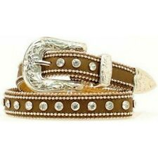 Girl's or Women's Narrow Western Belt with Crystals Size 28