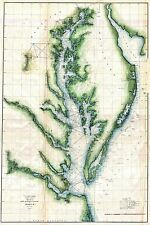 1859  US Coast Survey Chart or Map of the Chesapeake Bay