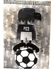 Original Foto De Prensa Copa del Mundo 1970 Pico Mascota 14.1.1970