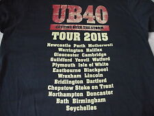 *NEW* UB 40 GETTING OVER THE STORM 2015 TOUR + VENUES MENS BLACK T SHIRT M L XL