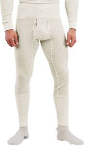 Natural White Winter Thermals Knit Underwear Bottoms Pants Long Johns