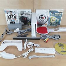 NINTENDO Wii CONSOLE WHITE PAL BUNDLE 5 x GAMES NEED FOR SPEED PRO EVO SPONGEBOB