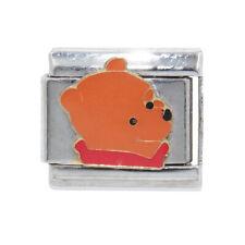 Winnie the Pooh head Italian Charm -fits 9mm classic Italian charm bracelets