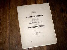 morceaux de fantaisie trio pour piano violon et violoncelle Op.88 Schumann 1867