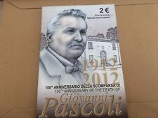 2 euro fdc  Italie 2012 100e anniversaire mort Giovanni PASCOLI