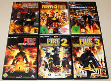 6 PC SPIELE SAMMLUNG - FIRE DEPARTMENT 1 2 3 & EMERGENCY 2012 FIREFIGHTER HEROES