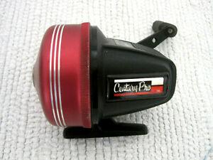 RARE Johnson USA Century Pro 345 Graphite Red Spin Cast Fishing Reel-Works