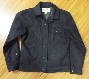 Filson Tin Cloth Short Lined Cruiser Jacket Men's Black Size Small