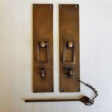 Rectangle Brass Oriental Antique look Pin Lock for cupboard or door - 22cm Large