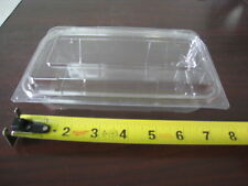 """304 x Transparent Food Container Plastic Disposable 6.5"""" x 3.5"""" x 2"""" , Bakery"""