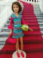 BARBIE DOLL SISTER SKIPPER BOHO BLUE & PINK DRESS SET FASHION CLOTHES NO DOLL
