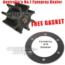 GENUINE 3/4 Fynspray Argo Jabsco Boat Water Pump Impeller Ski Inboard + GASKET