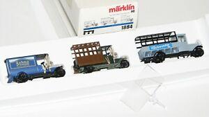 """Märklin H0 1884 Wagen-Set """"Oldtimer LKW"""" OVP AS20119"""