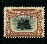 [CF]   US #296 Mint-NH 1901 ~ 4c PAN-AM BICOLOR EXPO  Issue..Ships FREE!